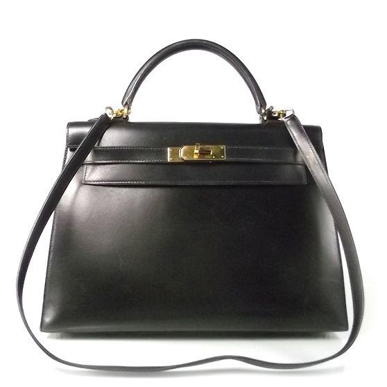 Vintage Hermes- nothing finer. Hermes Kelly 32 in black box ...