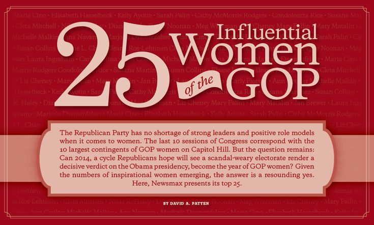 25 influential women of the GOP