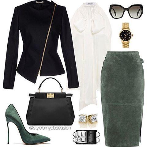 amazing...love that skirt Workday Wednesday Blazer: Bouchra Jarrar Top…