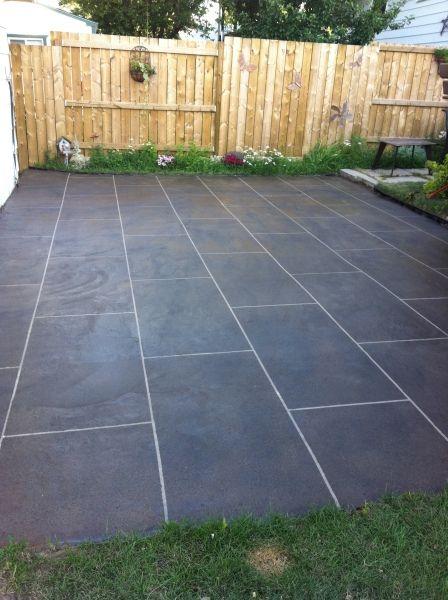 Back Patio Concrete Resurfacing Calgary