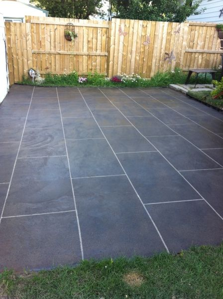 Back Patio Concrete Resurfacing Calgary