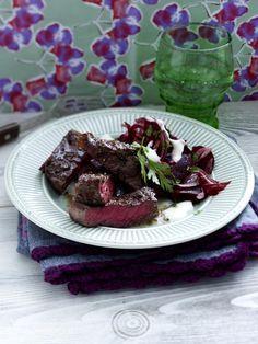 Rumpsteak mit Rote-Bete-Salat