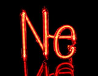 neon element symbol discharge tube 75x75mm perfect for