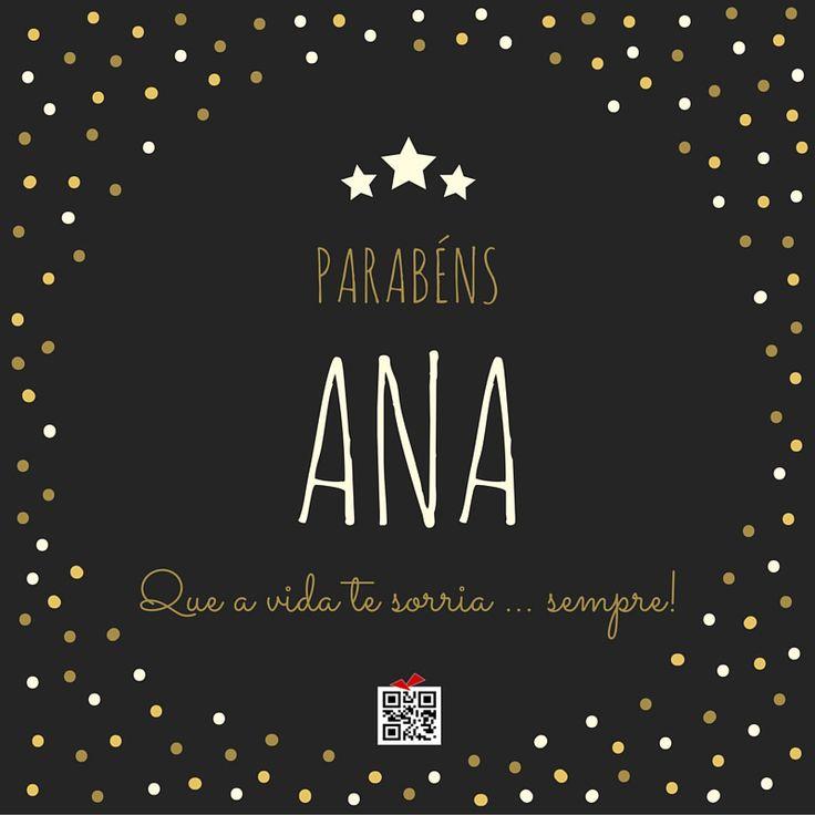 Postal de Aniversário da Ana