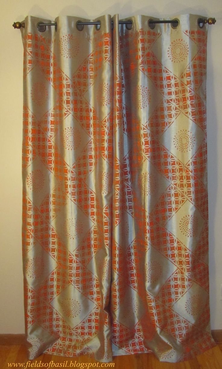 Best 25  Stenciled curtains ideas on Pinterest | Painting curtains ... for Curtain Patterns 2012  157uhy