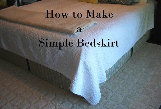 DIY Bedskirt - no sew