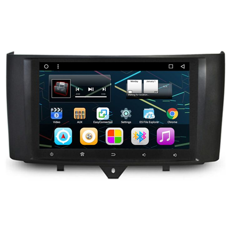 """9"""" Android 6.0.1 Car Multimedia GPS Navigation DVD Radio for Mercedes Benz Smart fortwo 2010 2011 2012 2013 2014 2015"""