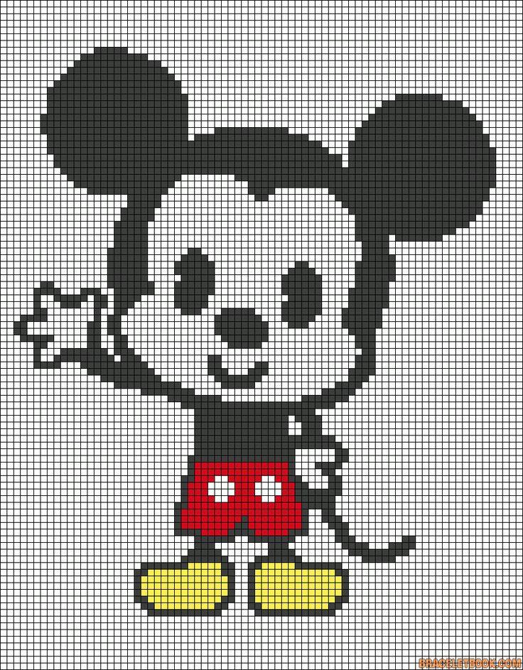 cute mickey added by zebralover punto de cruz pinterest patrones alfa y patrones. Black Bedroom Furniture Sets. Home Design Ideas