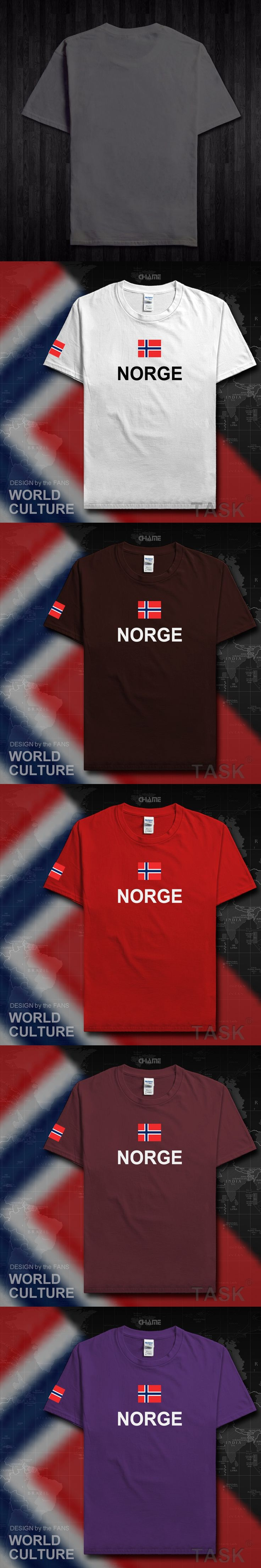 Norway Norge men t shirts fashion 2017 jerseys nation team tshirt cotton t-shirt meeting fitness gyms clothing tees country flag