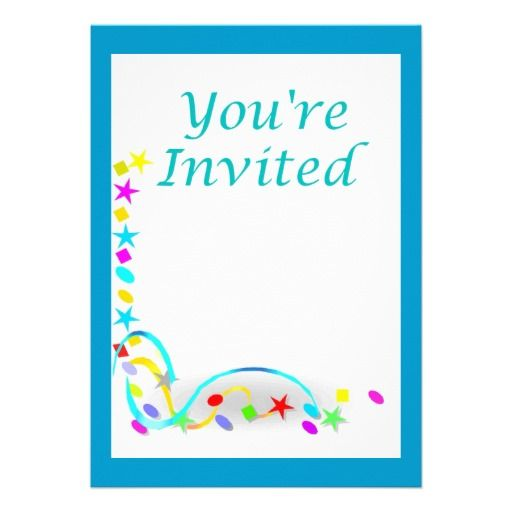 You're Invited Birthday Party Invitations