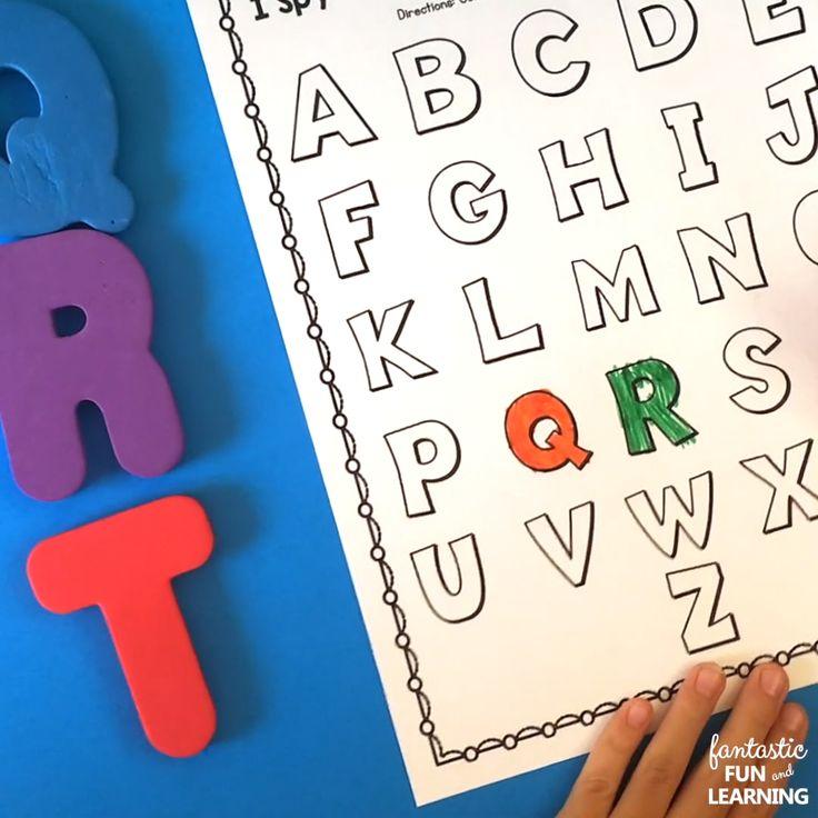 I Spy Scavenger Hunt ABC Games Alphabet Printables [Video ...