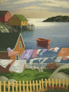 Halifax Artist, Paul Hannon and his whimsical images of Halifax and coastal Nova Scotia.