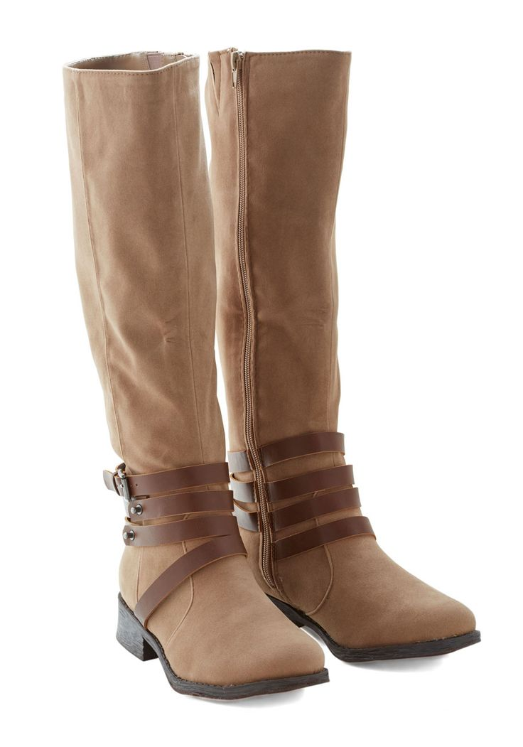 Trip Down Documentary Lane Boot. Recording footage for your hometown documentary, you roam through familiar streets in these sepia boots. #tan #modcloth