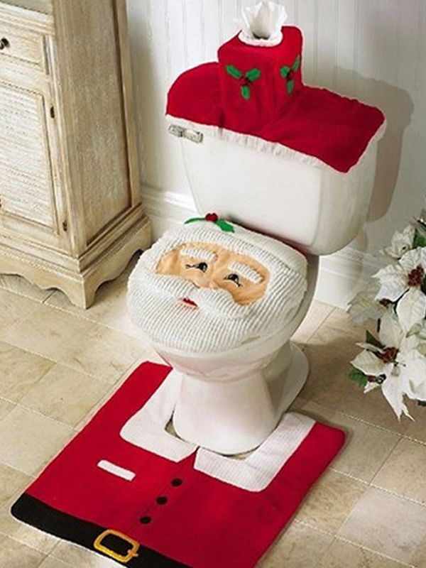 Shop Fashional Santa Claus Toilet Sets Cover Decoration online at Jollychic,FREE SHIPPING!