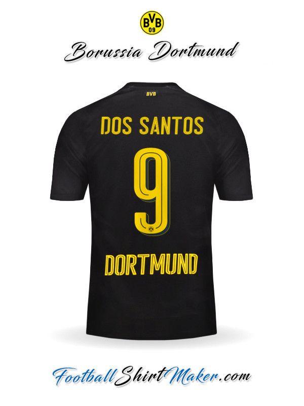 Camiseta Borussia Dortmund 2017/2018 Visita Dos santos 9