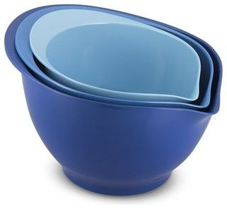 Melamine 3-Piece Mixing Bowl Set, Tonal Blue - contemporary - mixing bowls - by Williams-Sonoma