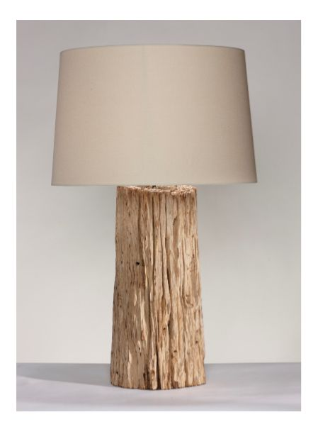 Inspirational Aspen Table Lamp bleached acacia wood with ivory linen hardback shade NOW AVAILABLE