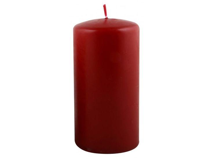 Świeca Filarowa śr. 6 wys. 12cm czerwona — Świece Ib Laursen — sfmeble.pl