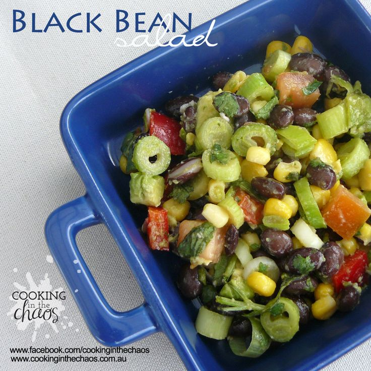 Black Bean Salad - Thermomix Recipe - Cooking in the Chaos