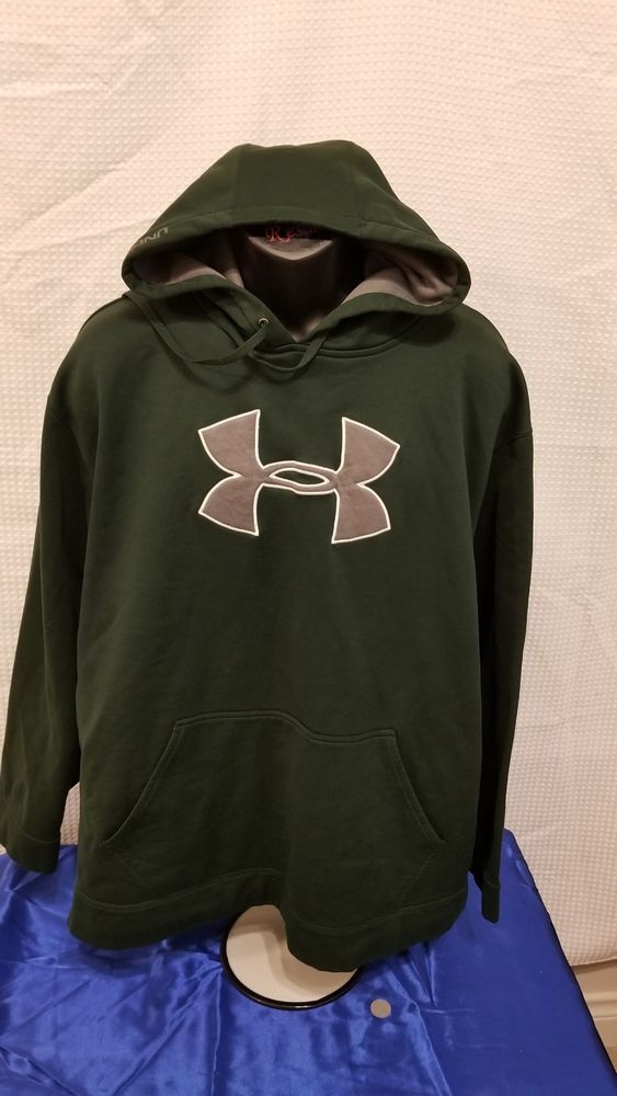 3f08a354e3c Under Armour Men s Performance Fleece Graphic Hoodie Green 2XL Gray UA Logo   fashion  clothing  shoes  accessories  mensclothing  activewear (ebay link)
