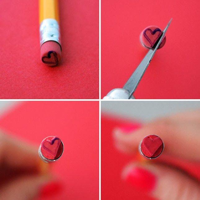 DIY Heart Stamp  + Print