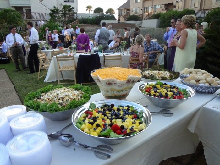 Salad bar for wedding