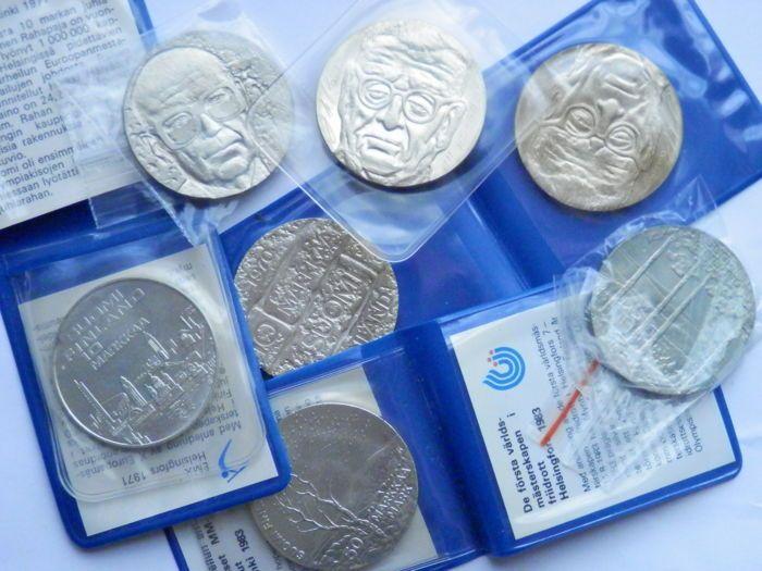 Finland - Lot van 7 Mark munten 1612 g - zilver  Finland 10-50 Mark zilveren munten 161 2gFoto's bekijken.Geregistreerde scheepvaart.  EUR 37.00  Meer informatie