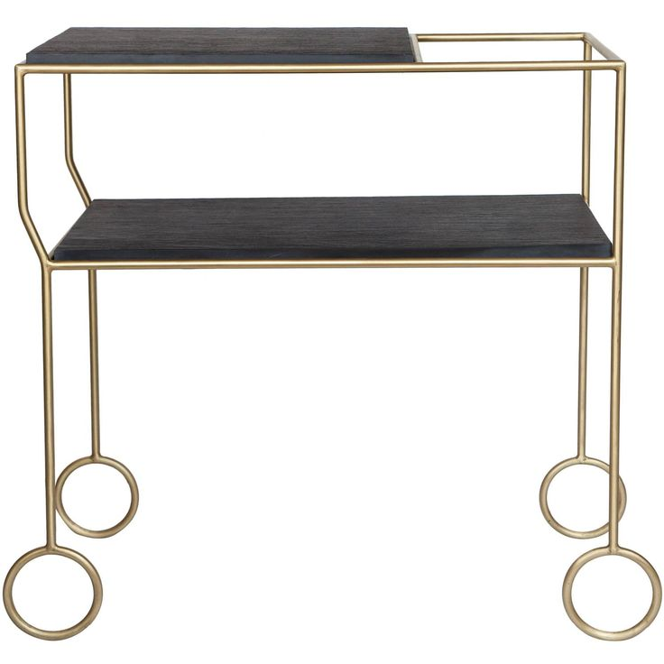 Biron Slate Top Bar Cart | From a unique collection of antique and modern bar carts at https://www.1stdibs.com/furniture/tables/bar-carts/