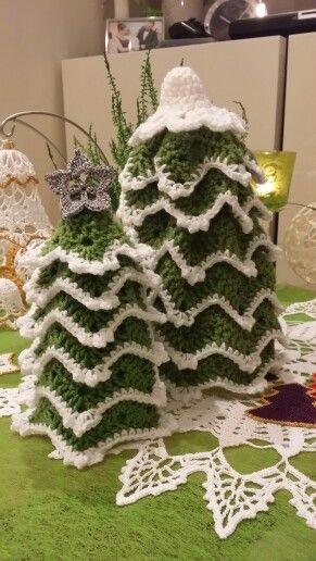 Crochet christmas tree / szydełkowe choinki