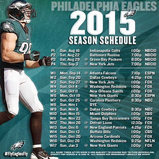 Eagles Release 2015 Season Schedule