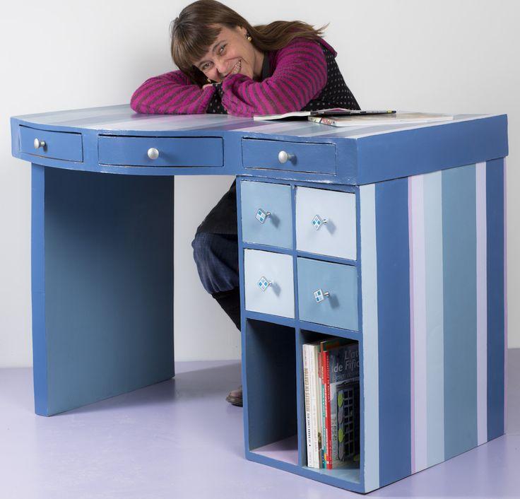 37 best images about meubles en carton cardboard for Bureau en carton