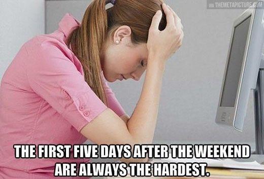 The hardest part of the week...