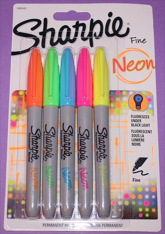 Neon Sharpie markers