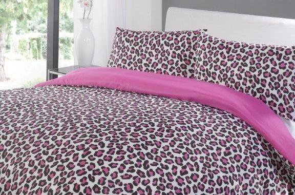 Leopard Print Bedding - Pink  £12.99
