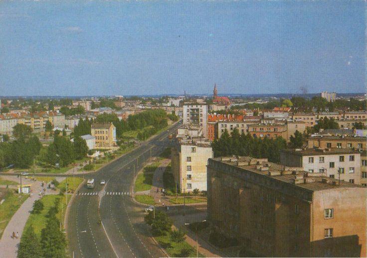 Białystok '70s Aleja 1 Maja fot. J. Tymiński