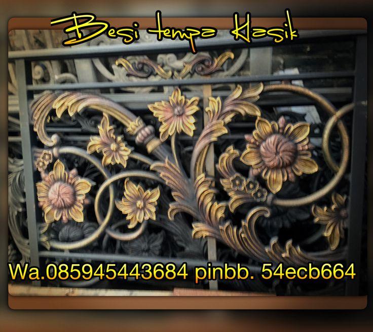 Besi tempa Klasik. Cast iron wrought iron