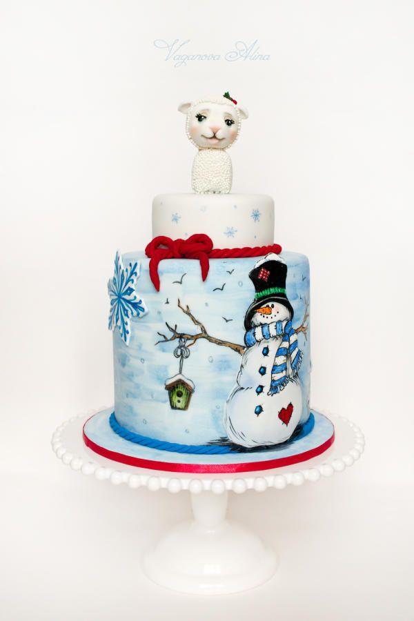 EDITOR'S CHOICE (01/03/2015) Christmas cake by Alina Vaganova View details here: http://cakesdecor.com/cakes/174020-christmas-cake