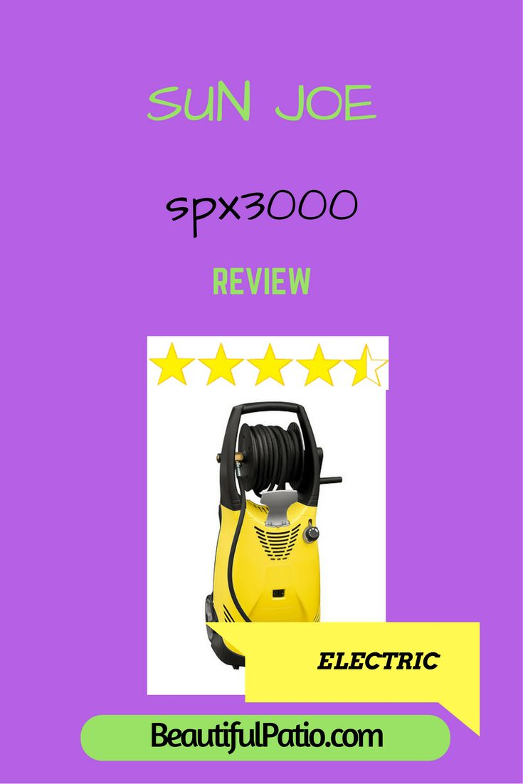 Sun Joe spx3000 review. The best electric pressure washer for home use?