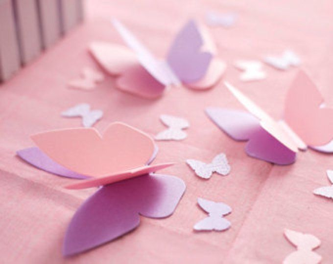 """Butterfly Party Decorations - Personalized & """"Fluttering"""" Butterfly Table Sprinkles - Choice of Colors"""