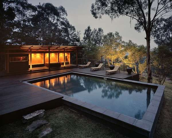 Another view of pool.  Perfect for our mountain top house!