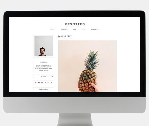 BESOTTED // modern premade wordpress theme besotted by blogzilla on Etsy