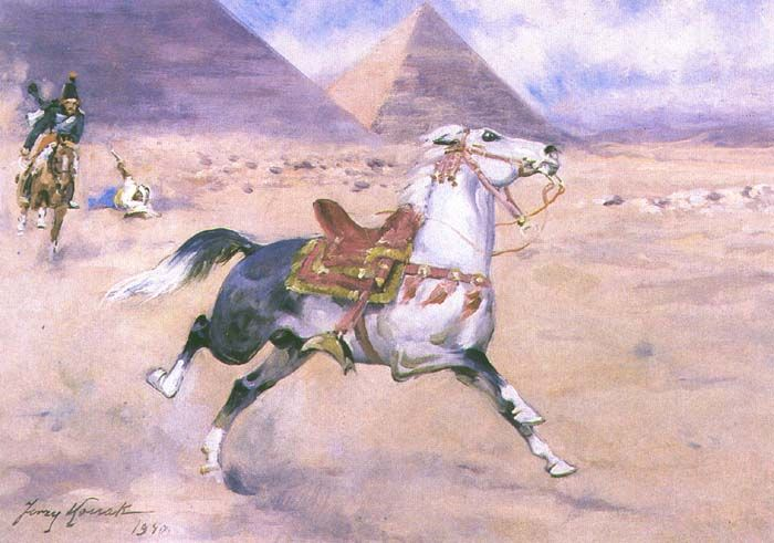 Running Away Through the Desert- Jerzy Kossak
