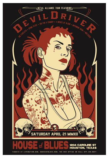 Scrojo, DevilDriver Poster, 2012