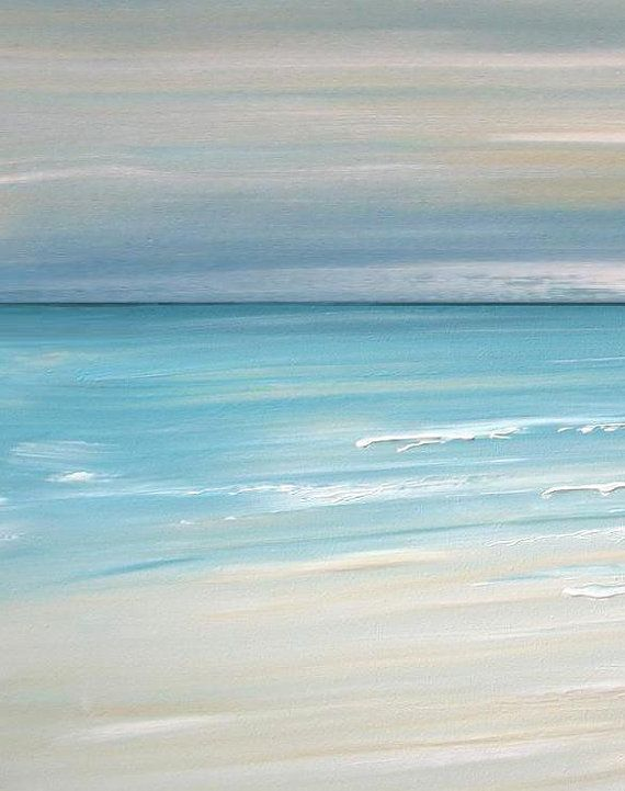 Beach artwork, nautical artwork, beach decor, beach art, ocean art, tropical wall art, abstract beach painting, coastal decor - FREE S&H
