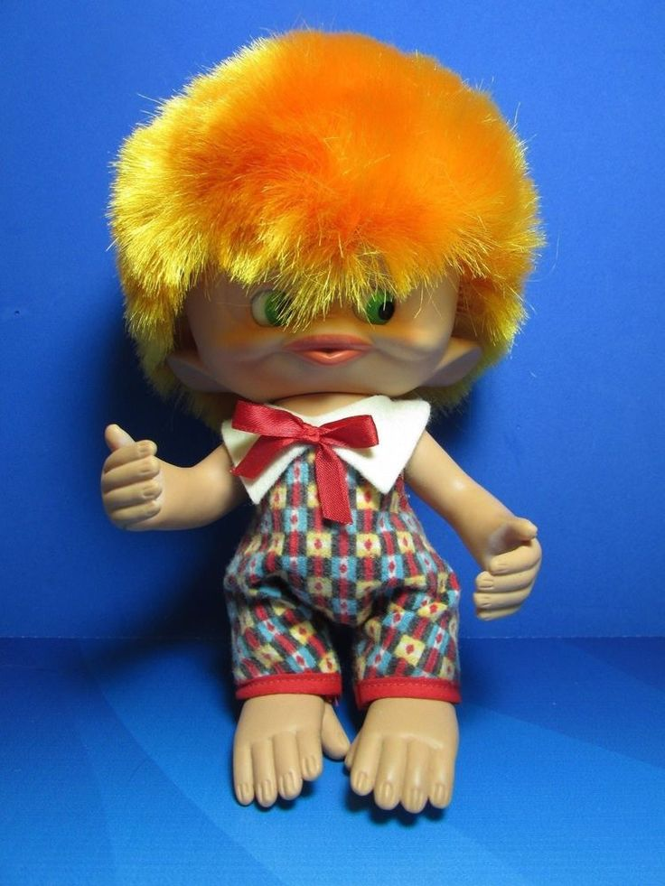"Rare Vintage 1965 MONKEY BOY - 8"" Unica Troll Doll - Made In Belgium - EXCELLENT in  
