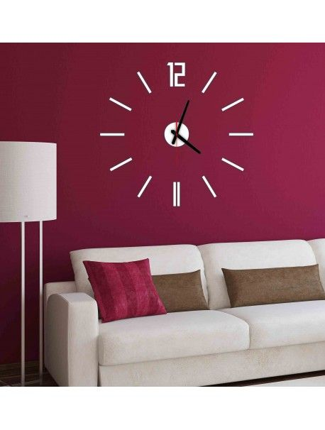 Modern wall clock LUIS, color: white Reference:  X0019-RAL9010-BLACK hands Condition:  New product  Availability:  In Stock  Time to change! Decorating watches will revive every interior, highlight the charm and style of your space. Discover your living with new clocks. Plexiglass wall clocks are a wonderful decoration of your interior.