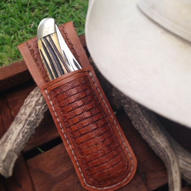 Leather Knife Sheath.  Check out other Knife Sheaths at www.WesternDryGoods.com.