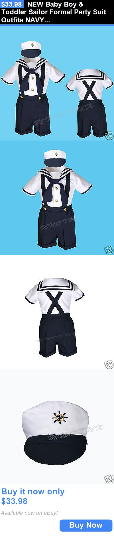 Kids Costumes: New Baby Boy And Toddler Sailor Formal Party Suit Outfits Navy Sz: S,M,L 2T 3T 4T BUY IT NOW ONLY: $33.98