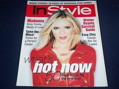 2001 JANUARY IN STYLE MAGAZINE - MADONNA - FASHION SUPER MODELS - F 618 | eBay