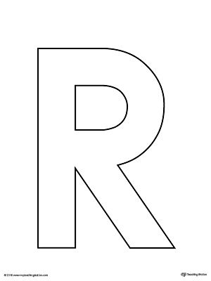 Uppercase Letter R Template Printable | Preschool Crafts ...